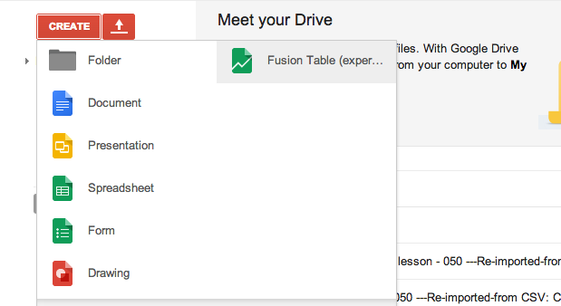 Intro to data mashing and mapping with google fusion for Google table design