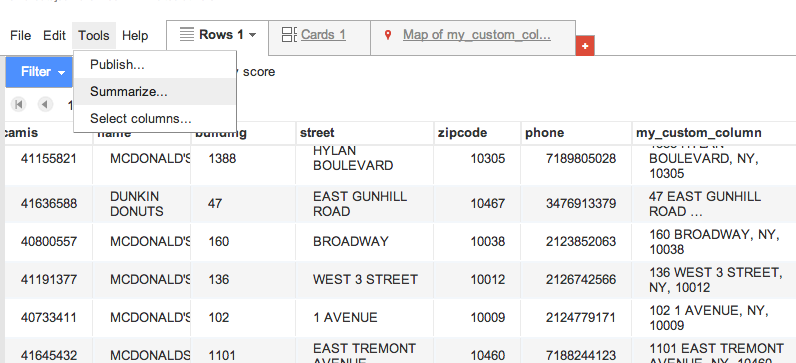 Intro to Data Mashing and Mapping with Google Fusion Tables